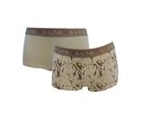 2-pack E-Line dames boxershort Groen/Golf_