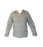 Gentlemen Heren Flanellen Pyjama jas Lichtblauw met donkerblauw print_