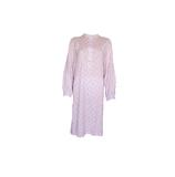Cocodream Dames nachthemd met lange mouw Roze Waaiers_