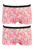 2-Pack Fun2Wear Meisjes boxershorts Animal Barely Pink_