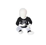 """Beeren Baby pyjama """"To the Moon"""" Zwart_"""