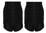 Beeren 10-Pack dames tailleslips (Maxi) Briljant Zwart_