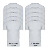 Beeren 10-Pack extra lange heren T-shirts met O-Hals M3000 Wit_