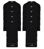 Beeren 10-Pack extra lange heren T-shirts met V-Hals M3000 Zwart_