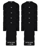 Beeren 10-Pack extra lange heren T-shirts met O-Hals M3000 Zwart_