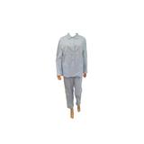 Cocodream Flanel Pyjama Blaadje Blauw_