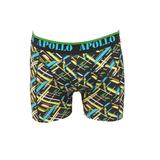 """Apollo 2-Pack Heren boxershorts """"Flits"""" Zwart/Marine_"""