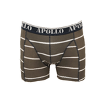 "Apollo 2-Pack Heren boxershorts ""All Stripes"" Bruin/Marine_"