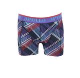 """Apollo 2-Pack Heren boxershorts """"Diagonaal"""" Geel/Paars_"""
