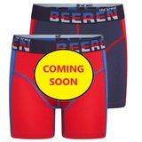 Beeren 2-Pack Mix&Match  Jongens boxershorts Blauw/Rood_