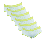 Beeren 6-Pack Meisjes slips Love Lime_