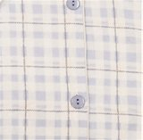 Cocodream Flanel Pyjama Ruit L.Blauw_