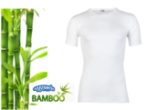 Boru Bamboe heren T-shirt Korte Mouw Wit_