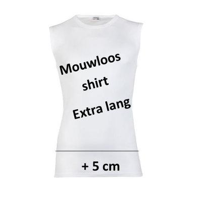 Beeren Extra lang Heren mouwloos shirt M3000 Wit