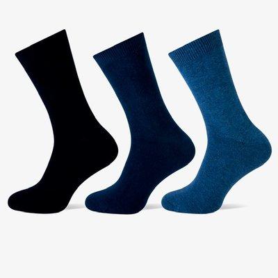 Teckel 3-Pack dames sokken blauw assorti