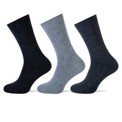 Teckel 3-Pack dames sokken Antraciet assorti