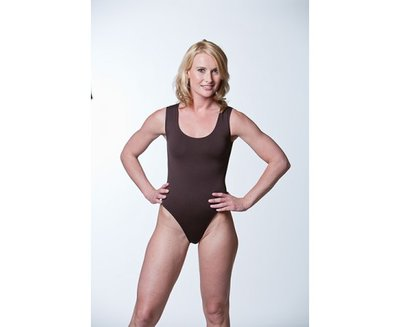 JC Dames body met brede bandjes stringmodel Zwart