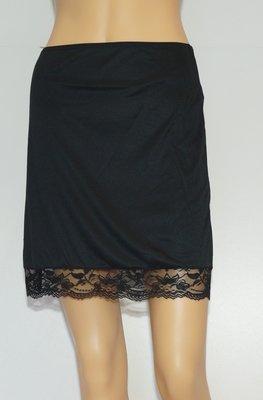 Reyberg Onderrok kort met kant (50cm) Zwart
