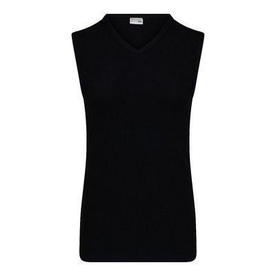 Beeren Heren mouwloos shirt met V-hals M3000 Zwart