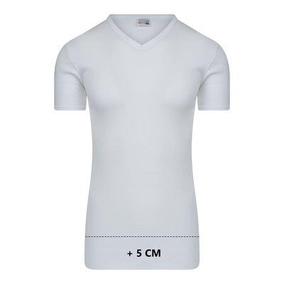 Beeren Extra lang heren T-shirt met V-hals M3000 Wit
