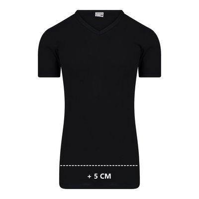 Beeren Extra lang heren T-shirt met V-hals M3000 Zwart