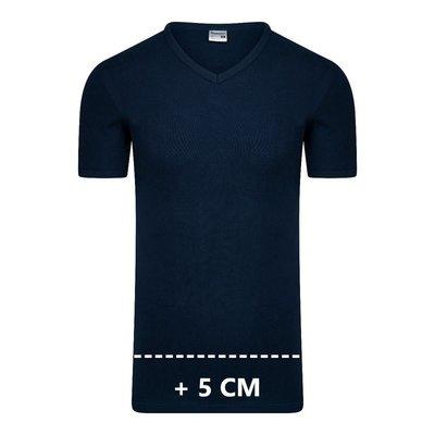 Beeren Extra lang heren T-shirt met V-hals M3000 Marine