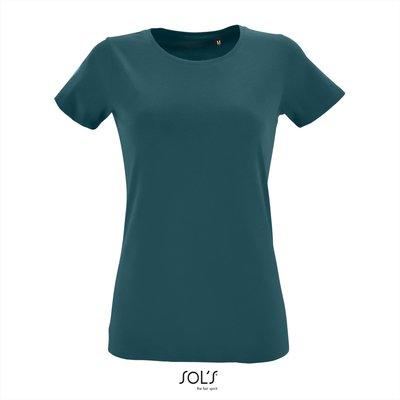 Dames T-shirt met O-Hals Duck Blue