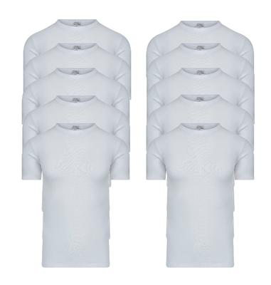 Beeren 10-Pack Heren T-shirts met ronde hals en K.M. M3000 Wit