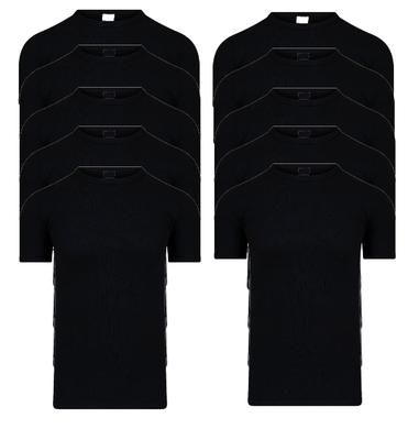 Beeren 10-Pack Heren T-shirts met ronde hals en K.M. M3000 Zwart
