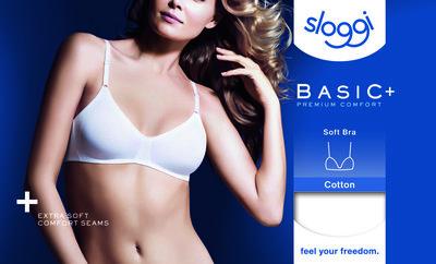 Sloggi Dames Soft Bra Basic+ Wit
