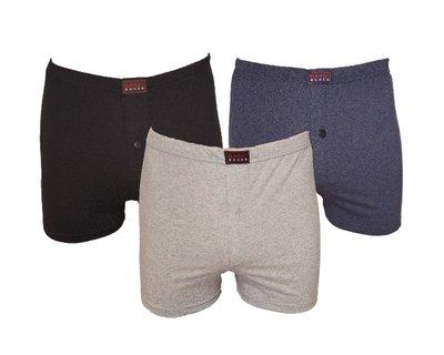 Basic 3-Pack Heren boxershorts Grijs