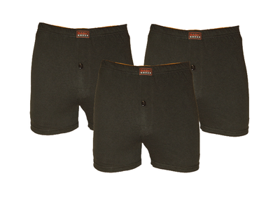 Basic 3-Pack Heren boxershorts Zwart