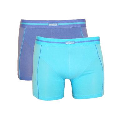 Gino Santi 2-Pack Jongens boxershorts Blauw