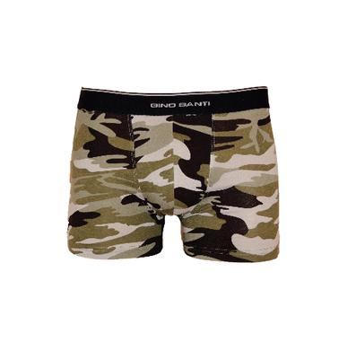 Gino Santi Jongens boxershorts Camouflage Groen