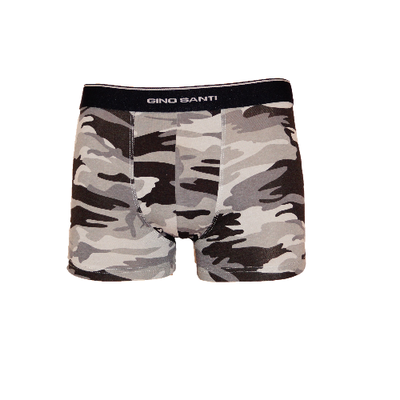 Gino Santi Jongens boxershorts Camouflage Grijs