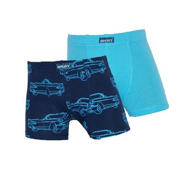 Gino Santi 2-Pack Jongens boxershorts Auto Blauw