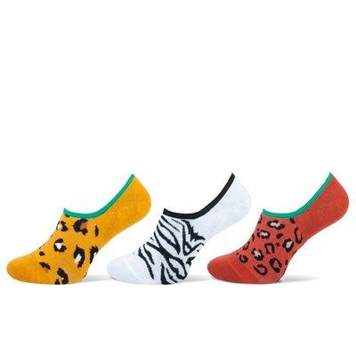 Teckel 3-Pack Invisible dames sneakersokken Dierenprint