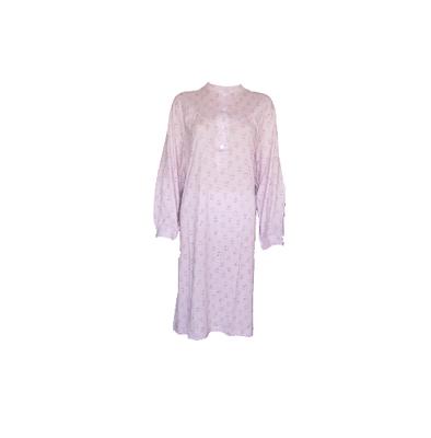 Cocodream Dames nachthemd met lange mouw Roze Waaiers