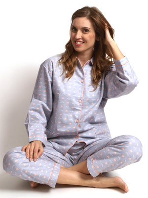 Cocodream Flanel Pyjama Eye Grijs
