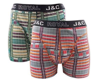 J&C 2-pack Heren boxershorts H235-30050 Red/Moss