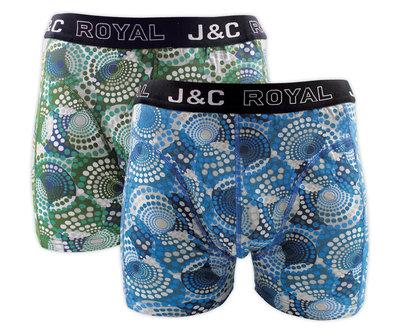 J&C 2-pack Heren boxershorts H239-30057 Mint/Petrol