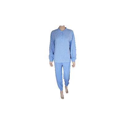 Lunatex Katoenen dames pyjama Bleu