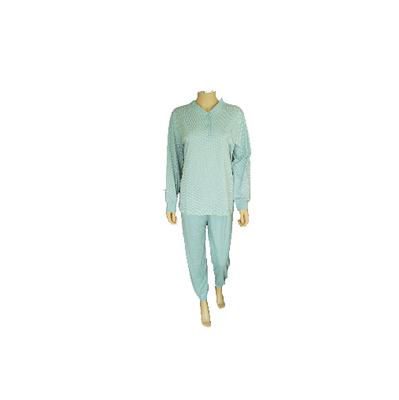 Lunatex Katoenen dames pyjama Groen