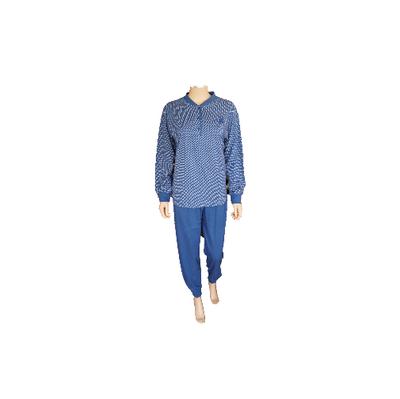 Lunatex Katoenen dames pyjama Navy