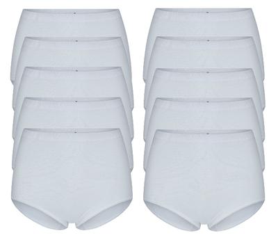 Beeren 10-Pack dames tailleslips (Maxi) Briljant Wit