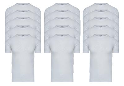 Beeren 15-Pack Heren T-shirts met ronde hals en K.M M3000 Wit