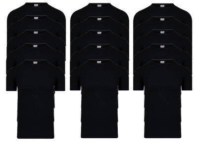 Beeren 15-Pack Heren T-shirts met O-Hals M3000 Zwart