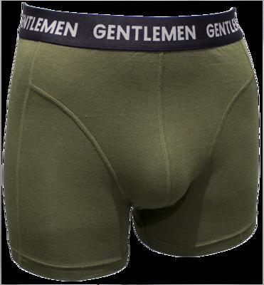 Gentlemen Heren boxershort Modal Olijfgroen