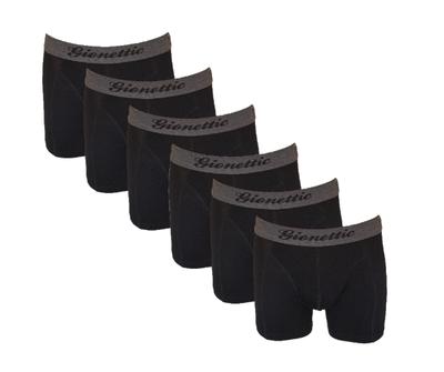 6-Pack Gionettic Modal Heren boxershorts Zwart