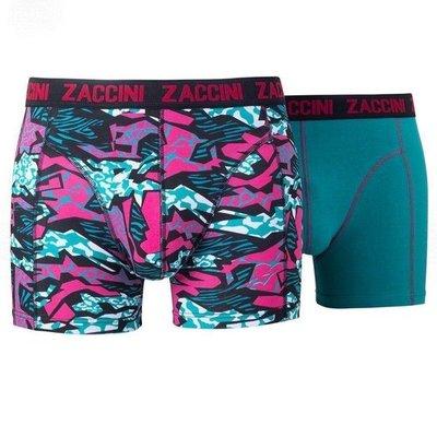 Zaccini 2-pack Heren boxershorts  Black/Turquoise